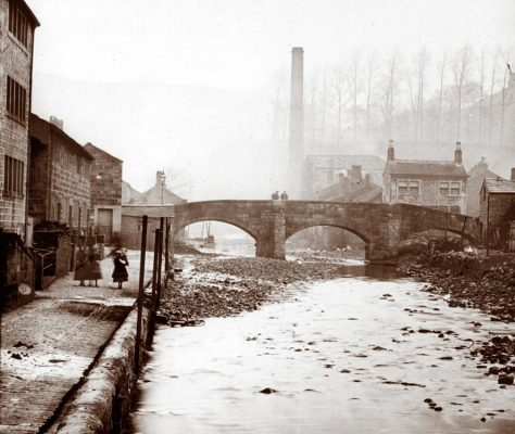 the-old-bridge-hebden bridge c1870