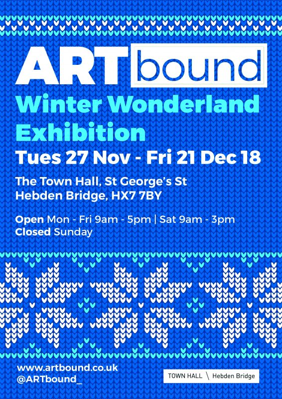 Artbound ARTfair at hebden Bridge Town Hall