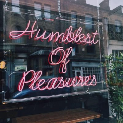 humblest of pleasures