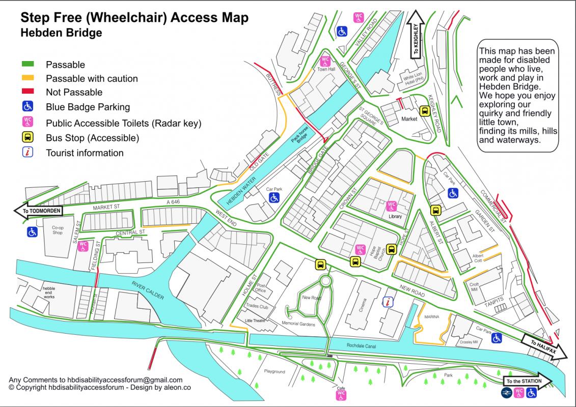 Hebden Bridge Disability Forum map