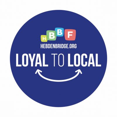 loyal to local social distancing floor sticker